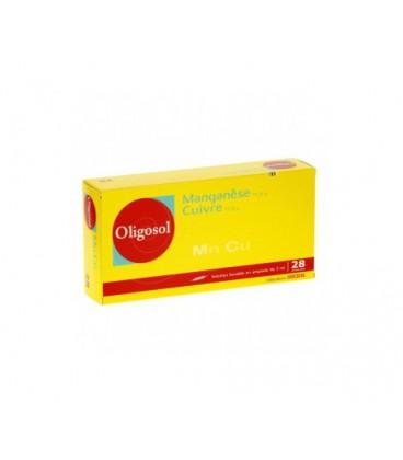 OLIGOSOL MANGANESO-COBRE 28 AMP