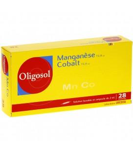 OLIGOSOL MANGANESO-COBALTO 28 AMP