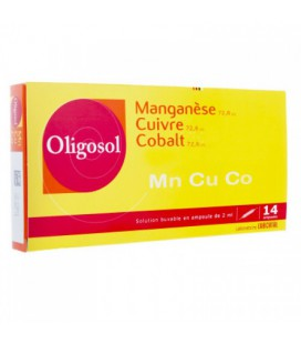 OLIGOSOL MANGANESO-COBRE-COBALTO 14 AMP