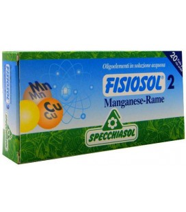 SPECCHIASOL FISIOSOL 2 MANGANESO-COBRE 20 AMP