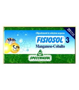 SPECCHIASOL FISIOSOL 3 MANGANESO-COBALTO 20 AMP