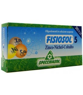 SPECCHIASOL FISIOSOL 5 ZINC-NÍQUEL-COBALTO 20 AMPOLLAS