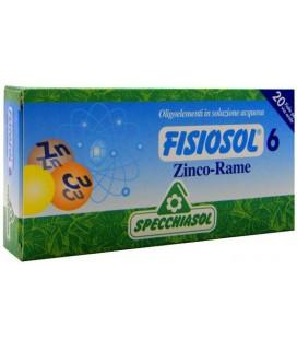 SPECCHIASOL FISIOSOL 6 ZINC-COBRE 20 AMPOLLAS