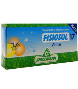 SPECCHIASOL FISIOSOL 17 ZINC 20 AMPOLLAS