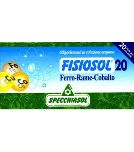 SPECCHIASOL FISIOSOL 20 HIERRO-COBRE-COBALTO 20 AMPOLLAS