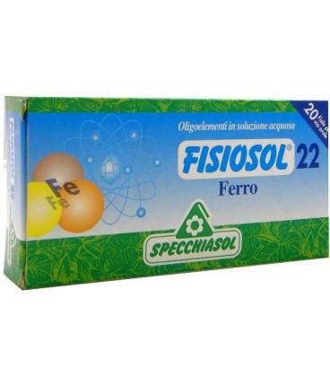 SPECCHIASOL FISIOSOL 22 HIERRO 20 AMPOLLAS