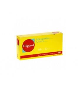 OLIGOSOL MANGANESO-COBRE 14 AMPOLLAS