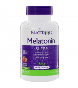 MELATONINA NATROL 5 MG FAST DISOLVE STRAWBERRY 90 TAB