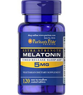 Melatonina 5mg Time Release Puritan's Pride 120tab